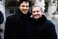 """Benedict and Martin: """"Aren't ordinary people adooorable...?"""""""