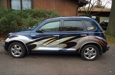 PT Cruiser custom paint job Chrysler Pt Cruiser, Chrysler Cars, Custom Paint Jobs, Custom Cars, My Ride, Cars Motorcycles, Automobile, Hot Rods, Vehicles