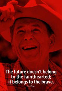 Ronald Reagan Future iNspire Quote Poster