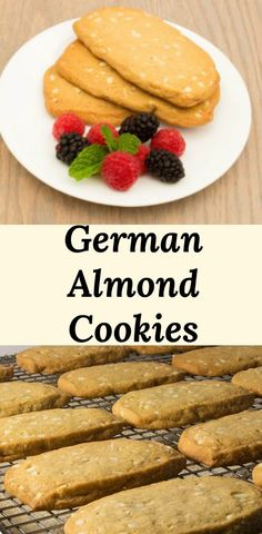 German Icebox Cookies are a soft and addictive almond studded cookie. Not too sweet making them perfect with coffee, tea, and hot chocolate. Icebox Cookie Recipe, Icebox Cookies, Lard Cookies Recipe, Easy Cookie Recipes, Dessert Recipes, Dessert Ideas, German Cookies, Almond Meal Cookies, German Baking