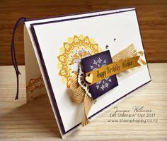 stampin up new zealand eggplant medallion birthday card