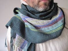 Cotton Handwoven Scarf Unisex Fall Accessory  by SameheartDesigns, $144.00