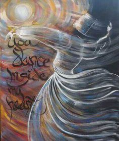Prophetic art dancing with my beloved. Whirling Dervish, Prophetic Art, Turkish Art, Calligraphy Art, Islamic Art, Art And Architecture, Mystic, Decoration, Art Photography