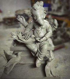 Jai Ganesh, Ganesh Lord, Ganesh Idol, Ganesh Statue, Ganesha Art, Krishna Art, Ganesh Chaturthi Decoration, Happy Ganesh Chaturthi Images, Shri Ganesh Images