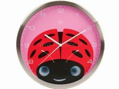 Zegar ścienny J.I.P Peekaboo biedronka  http://www.citihome.pl/zegar-scienny-j-i-p-peekaboo-biedronka.html