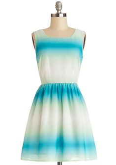 Serene Dreaming Dress. Let your inspiring daydreams transport you to a seaside locale as breathtaking as this ombre dress from Jack by BB Dakota! #multi #modcloth