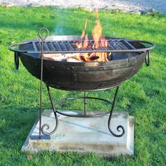 Indian Fire Bowl With Rack And Ash Rake by Firepits UK, the perfect gift for Explore more unique gifts in our curated marketplace. Nomadic Furniture, Metal Furniture, Fire Cooking, Outdoor Cooking, Fire Pit Stand, Bonfire Pits, Fire Pit Bbq, Fireplace Set, Fire Bowls