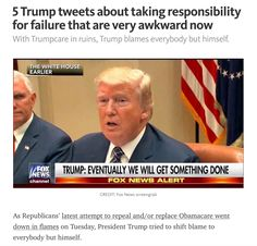 """The GOP Mantra: """"Do As We Say Not As We Do..."""" Full Story Here: thinkprogress.org/trump-trumpcare-health-care-personal-responsibility-awkward-tweets-d8a97ebfd094"""