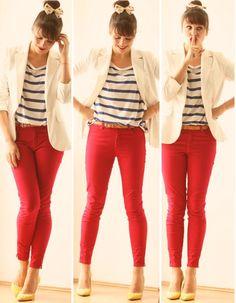 Blog Femina - Modéstia e Elegância: Red skinny jeans