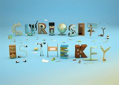 Curiosity is the key: 3D Typography by Noelia Lozano | Inspiration Grid | Design Inspiration