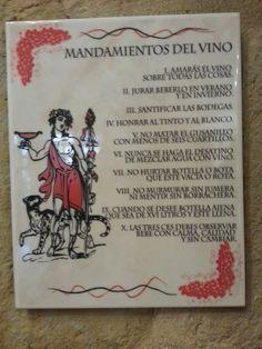 los mandamientos del vino  #LRTAHaro2013