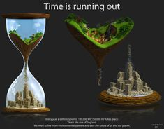 """Time is Running Out"" by 3DJack (DeviantArt)    I love the use of the hourglass.  In my head, I envision one that goes from winter to spring, from death to life."