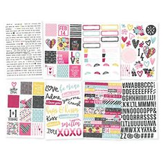 Want This! Love  Adore Stickers 4X6 8Pkg-