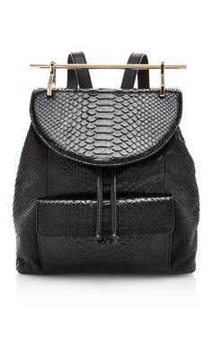 Black Python and Calfskin Backpack by M2Malletier Now Available on Moda Operandi