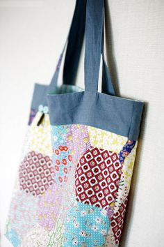 Easy Shopper Tote Bag Sewing A Step-by-Step Tutorial with Photos.  Хозяйственная сумка. МК.