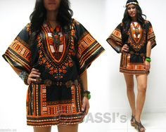 Mini Dress MJB05 Kaftan African Dashiki Festival Carnival Boho Top Shirt Women