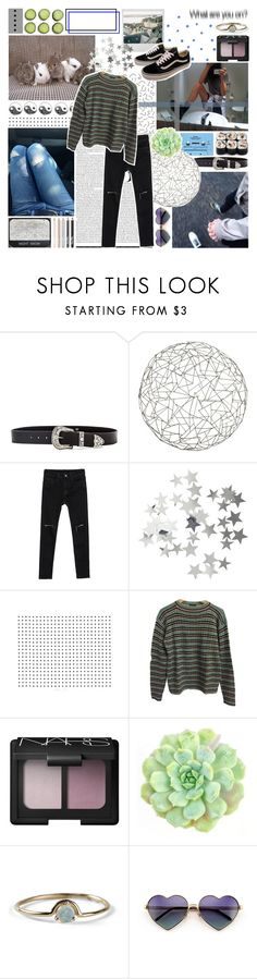 """""""With heaven above you there's hell over me."""" by brok3n-hearts ❤ liked on Polyvore featuring B-Low the Belt, CASSETTE, Arteriors, H&M, Prada, Vans, NARS Cosmetics, WALL, WWAKE and Wildfox"""