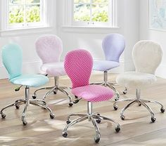Upholstered Round Task Chair
