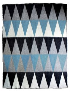 geometric felt blanket