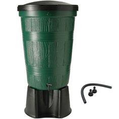 Cloudburst Water Butt Kit with Link Kit, 200 litre, Green