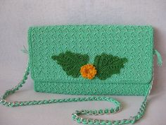 Bag-clutch from merserizovannogo cotton. Summer by KnitsUkraine