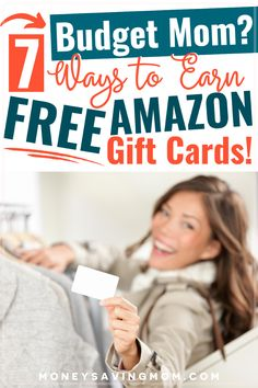 Want to earn FREE Amazon gift cards? Check out this list of great ideas! #earnmoney #savemoney #budgeting #freegiftcards #budgetmom Living On A Budget, Frugal Living Tips, Save Money On Groceries, Ways To Save Money, Christmas On A Budget, Christmas Ideas, Gift Cards Money, Money Saving Mom, Money Makers
