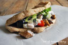 The Art of Homemaking: Veggie Gyros on Homemade Pita with Feta