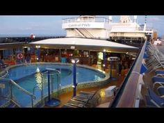 Carnival Pride Lido Deck.  This is the Lido Deck on the Carnival Pride cruise ship.  This is where all of the pools and hot tubs are on the ship!  There is also a pool-side buffet area with hamburgers, hotdogs, nachos and other great pool food!  Please share this video and enjoy my other cruise ship videos too!  Filmed with Panasonic Lumix TS3 camera in 1080P HD.