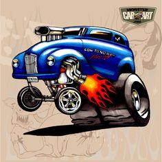 Monster car art