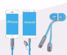 USB Data Charger Cable 8pin 2 in 1 Micro For iPhones and Android Phone #UnbrandedGeneric