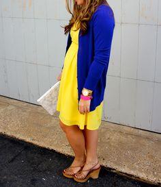 yellow & colbalt