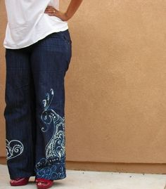 how to make bleach pen patterned pants