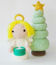 En el post de hoy te enseño este precioso ángel amigurumi y dónde puedes encontrar el patrón. Además te cuento como hacer el árbol de Navidad que lo acompaña! http://www.terapiaganchillera.com/2016/12/un-bonito-angel-amigurumi-y-un-arbol-de.html Blog sobre ganchillo, amigurumis, y todo lo que voy aprendiendo a hacer con mis manos en el universo handmade. Patrones de ganchillo y tutoriales.