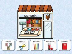 Las TIENDAS Paper Doll House, Paper Dolls, Spanish Class, Teaching Materials, Bingo, Diy For Kids, Diy And Crafts, Homeschool, Activities