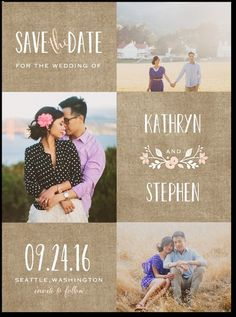 Save the dates, natural, organic, simple