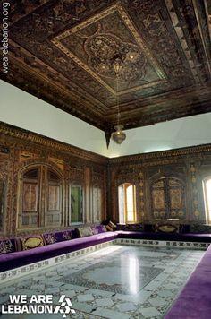 A living room in the palace of #Beiteddine غرفة جلوس في قصر #بيت_الدين Photo by Laurent Abad #WeAreLebanon