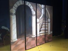 It's finished!!!   The play is next week... I hope to be able to take some photos of when the props and cast are in front of the sets.   Hop...