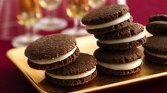 Treat your family to these cocoa sandwich cookies that are made using Pillsbury® Gingerbread Cookies and filled with vanilla - perfect for dessert.