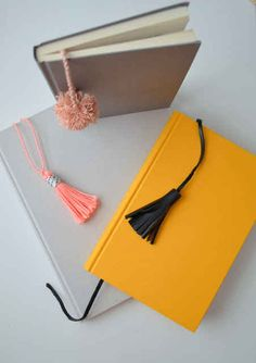 Tassel and Pom-Pom Bookmarks
