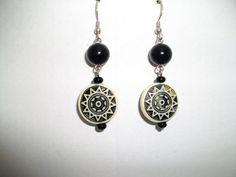 Black dangle earrings by mwadsworth on Etsy, $10.00