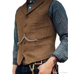 Men's Suit Vest Boutique Wool Tweed Slim Fit Leisure Cotton Male Gentleman Beckham Business Waistcoat For Wedding Groomsmen-in Vests from Men's Clothing on AliExpress Costume Garçon, Gilet Costume, Mens Tweed Waistcoat, Mens Suit Vest, Mens Suits, Mens Formal Vest, Men Formal, Casual Groomsmen, Tweed Vest