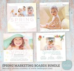 Spring Photography Marketing Board Bundle Mini by PaperLarkDesigns