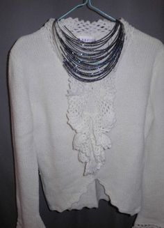 A vendre sur #vintedfrance ! http://www.vinted.fr/mode-femmes/pull-overs/19845436-pull-blanc-tricot-maille-apaisse
