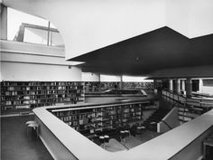 Alvar Aalto, Libary in Rovaniemi Alvar Aalto, Library Design, Architecture Design, Mid Century, Stairs, Country, Table, Inspiration, Furniture