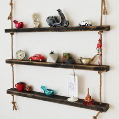 Massive Handmade Black Floating Shelves *** MADE TO ORDER *** *** SHIPPING TIME 7 DAYS *** Our product is produced with 100% massive natural wood and all of them  handmade.Product Measurements: Height: 9 cm , Widht: 100 cm , Shelf Thickness: 4 cm Certainly, ready-made products like mdf, suntalem are not used Our produc Custom Jewelry Design, Custom Design, Black Floating Shelves, All Wall, Wood Shelves, Natural Wood, Home Accessories, House Design, Woods