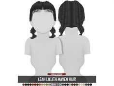The sims 4 leah lillith maven hair toddler version naomishwartzer Sims 4 Toddler Clothes, Sims 4 Cc Kids Clothing, Sims 4 Mods Clothes, Children Clothing, Hair The Sims 4, Sims 4 Black Hair, Sims Four, Los Sims 4 Mods, The Sims 4 Cabelos