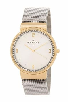 Skagen Denmark Silver/ Gold Women's Ancher Two-tone Watch Mens Watches For Sale, Best Watches For Men, Cool Watches, Skagen Watches, Men's Watches, Fashion Watches, Grey Watch, Expensive Jewelry, Bracelet Sizes