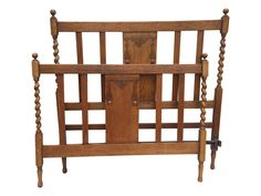Antique English Barley Twist Bed on Chairish.com