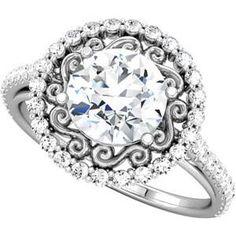Halo Diamond Vintage Engagement Ring <3 <3 <3 <3 <3