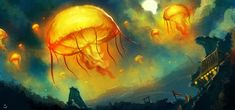 Lanterns in the Sky by desmondWOOT.deviantart.com on #deviantART